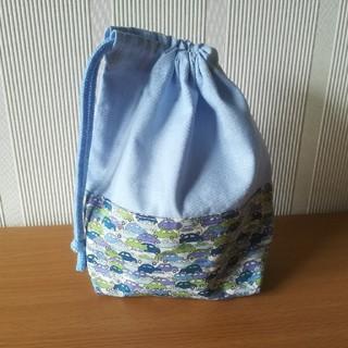 リバティCars🚗コップ袋(ランチボックス巾着)