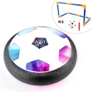 エアーサッカー ホバーサッカー サッカーゴール付き(スポーツ)