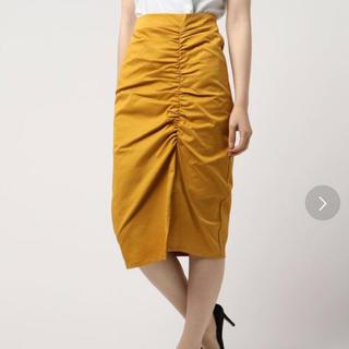 アンレリッシュ(UNRELISH)の新品 アンレリッシュ スカート マスタード M(ひざ丈スカート)