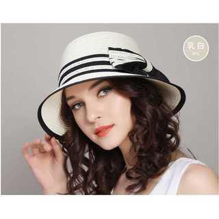 口コミ多数◆上品な麦わら帽子◆レディース◆乳白色(麦わら帽子/ストローハット)