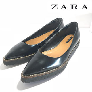 ザラ(ZARA)の【ZARA】ザラ ローファー パンプス 38(ローファー/革靴)