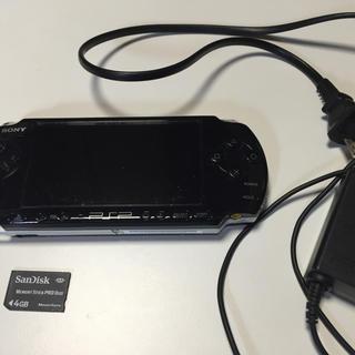 プレイステーションポータブル(PlayStation Portable)のPSP 3000 ピアノブラック(携帯用ゲーム本体)