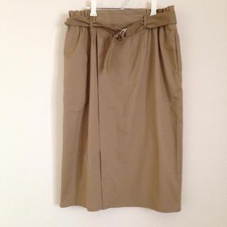 シマムラ(しまむら)の巻きスカート風タイトスカート  しまむら(ひざ丈スカート)
