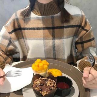 大人気♡ウールチェックセーター