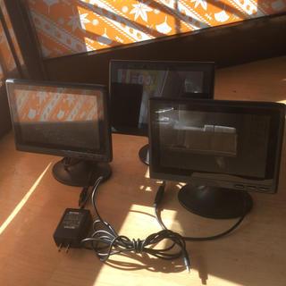 バッファロー(Buffalo)のBUFFALO 7型ワイド USB2.0 液晶ディスプレイ 中古(ディスプレイ)
