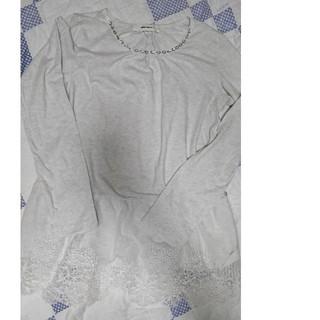 スーパーハッカ(SUPER HAKKA)のスーパーハッカsuperhakkaレースロンTシャツレディス(Tシャツ(長袖/七分))