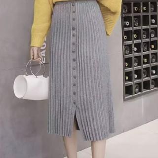 ザラ(ZARA)の新品 リブニットロングスカート(ロングスカート)