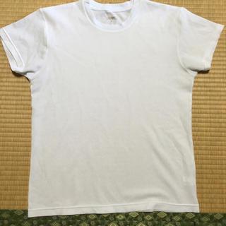 シマムラ(しまむら)の白無地Tシャツ♡ファイバードライ(Tシャツ/カットソー(半袖/袖なし))
