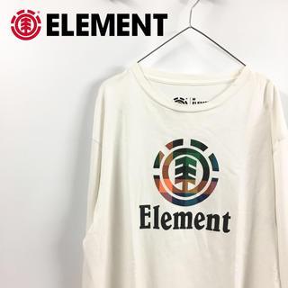 エレメント(ELEMENT)のELEMENT エレメント ロンT 長袖 白 ロゴ M(Tシャツ(長袖/七分))