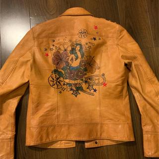 グッチ(Gucci)のグッチ タトゥマーメイドライン ライダース46 美品(ライダースジャケット)