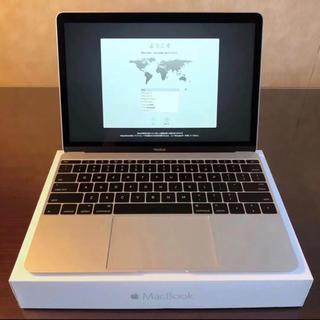 マック(Mac (Apple))のMacBook 12 256GB 2016 USキーボード シルバー(ノートPC)