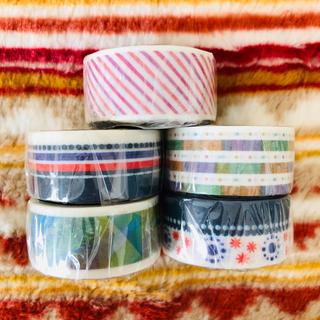 新品 マスキングテープ 5本セット(テープ/マスキングテープ)