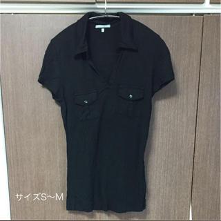 ジェームスパース(JAMES PERSE)のJAMES PERSE カットソー(ブラック) サイズ2(Tシャツ(半袖/袖なし))