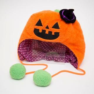 【クリーニング済】かぼちゃ帽子 被りもの(小道具)