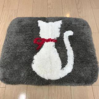 【土日限定値引】玄関マット バスマット マット 猫 ねこ ネコ 50×42(玄関マット)