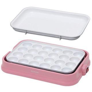 ☆インスタ映え☆ 白い♡たこ焼き器|きれいに焼ける|ピンク(たこ焼き機)