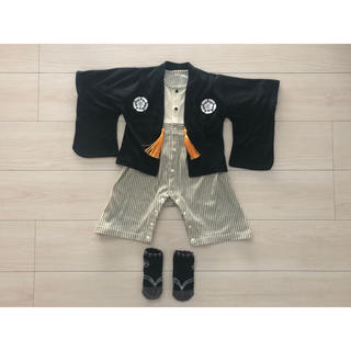 美品★袴ロンパース80 (和服/着物)