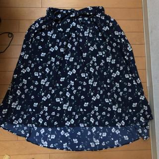 シマムラ(しまむら)のしまむら 花柄 ミモレ丈 スカート(ひざ丈スカート)