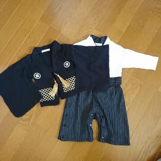 【サイズ80】男の子 袴 ロンパース 和服 和装(和服/着物)