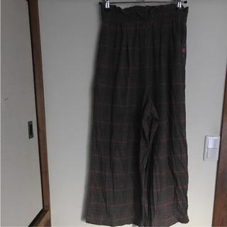 チチカカ(titicaca)のチチカカ  ワイドパンツ  チェック フリーサイズ 刺繍(カジュアルパンツ)