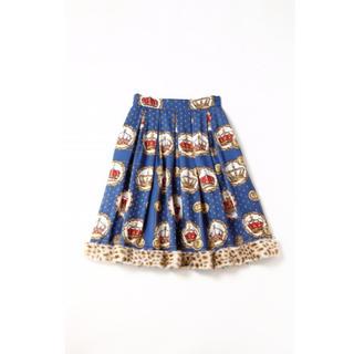 ジェーンマープル(JaneMarple)のJane Marple Kingdom scarf クラウンスカート (ひざ丈スカート)