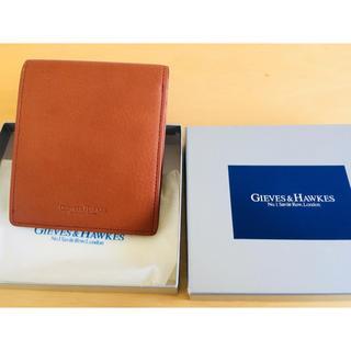 ギーブスアンドホークス(GIEVES & HAWKES)のGIEVES&HAWKES 二つ折り財布 ブラウン(折り財布)