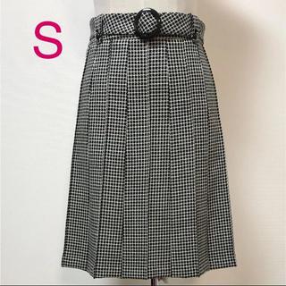 スープ(SOUP)のsoup 7号 ベルト付き ウール スカート (ひざ丈スカート)
