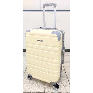 大型軽量スーツケース 8輪キャスター TSAロック付き Lサイズ ベージュ(旅行用品)
