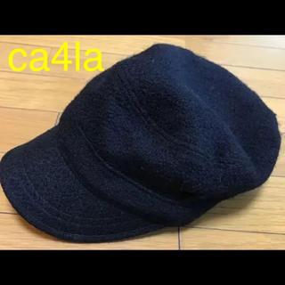 カシラ(CA4LA)のCA4LA    帽子  キャスケット  黒  カシラ(キャスケット)
