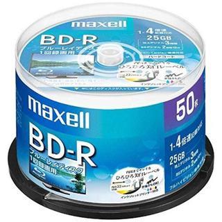 maxell 録画用 BD-R 標準130分 4倍速 ワイドプリンタブルホワイト(DVDプレーヤー)