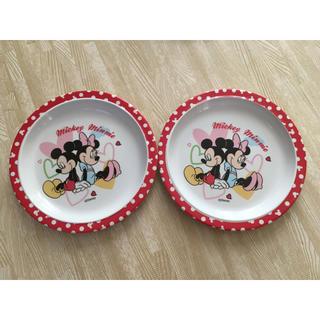 ディズニー(Disney)のミッキー&ミニー プラスティックプレート(プレート/茶碗)