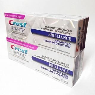 [訳あり] クレスト 3D ブリリアンス ホワイトニング歯磨き粉 2個(口臭防止/エチケット用品)