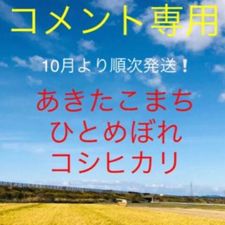 【コメント専用】令和2年度米10月より出品中です‼️(米/穀物)