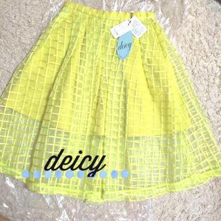 デイシー(deicy)のdeicyチェックオーガンジースカート(ひざ丈スカート)