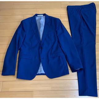 ザラ(ZARA)のザラ 100%ウールのスーツ モヘア混 上52下44 明るいネイビー(セットアップ)