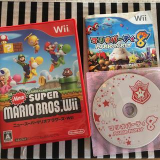 ウィー(Wii)のwii マリオパーティー8 NEWスーパーマリオブラザーズ ソフト(家庭用ゲームソフト)