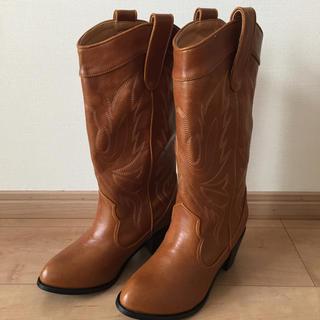 サルース(salus)の新品未使用 サルースsalus ウエスタンブーツ 23.5センチ(ブーツ)