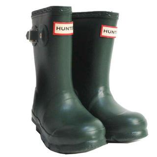 ハンター(HUNTER)のHUNTER レインブーツ キッズ 長靴 W23571 グリーン 13cm 格安(長靴/レインシューズ)