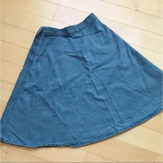 ジーユー(GU)のデニムスカート(ひざ丈スカート)