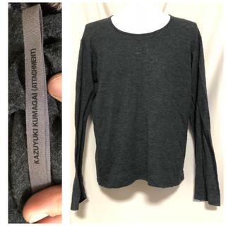 カズユキクマガイアタッチメント(KAZUYUKI KUMAGAI ATTACHMENT)の定価11880円 KAZUYUKI KUMAGAI ウールカットソー 3(Tシャツ/カットソー(七分/長袖))