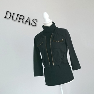 デュラス(DURAS)のDURAS デュラス ジャケット ブラック レディース(ノーカラージャケット)