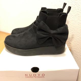 ヌォーボ(Nuovo)のnuovo girls サイドゴアブーツ 24cm(ブーツ)