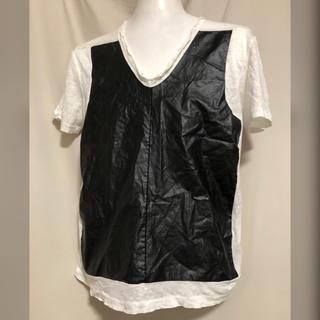 ニールバレット(NEIL BARRETT)のNeIL Barrett ニールバレット フェイクレザー リネンTシャツ XS(Tシャツ/カットソー(半袖/袖なし))