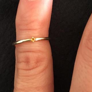 ヴァンドームアオヤマ(Vendome Aoyama)のヴァンドーム青山ピンキーリングYGシトリン&ダイヤモンド3号(リング(指輪))