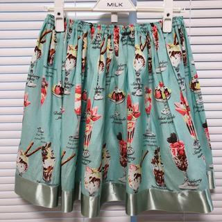 ジェーンマープル(JaneMarple)のジェーンマープル スカート パフェ グリーン ブルー(ミニスカート)