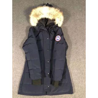 カナダグース(CANADA GOOSE)の正規品ブルー カナダの羽毛ジャケット(ダウンジャケット)