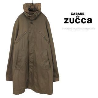 カバンドズッカ(CABANE de ZUCCa)の古着 ZUCCa デザイン ミリタリーコート MADE IN JAPAN(ミリタリージャケット)