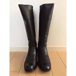 ヌォーボ(Nuovo)のNUOVO ヌォーボ ロングブーツ ジョガーブーツ L ブラック 黒(ブーツ)