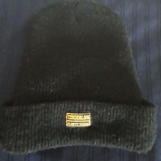 テンダーロイン(TENDERLOIN)の【ほぼ美品】【ウール100%】テンダーロイン黒つば付きニットキャップ帽子 日本製(キャップ)