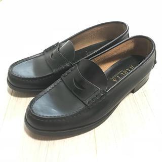 ハルタ(HARUTA)の【HARUTA】ローファー 黒 25cm BHWC3048(ローファー/革靴)
